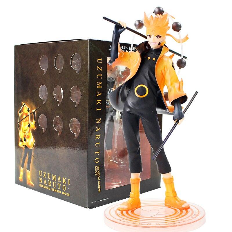 20CM Naruto Shippuden Statue Uzumaki Naruto Six Paths Sage Figure Japanese Anime New Naruto Figure